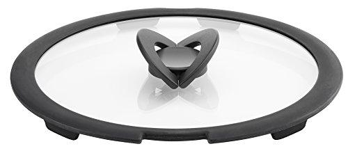 Lagostina Couvercle en Verre Ingenio pour Induction, Noir/Transparent, 24 cm
