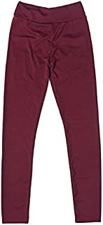 YKDY Yoga Trousers Elastic Movement Folds Bottoming Yoga Pants Sports Leggings (Color : Wine Red, Size : L)