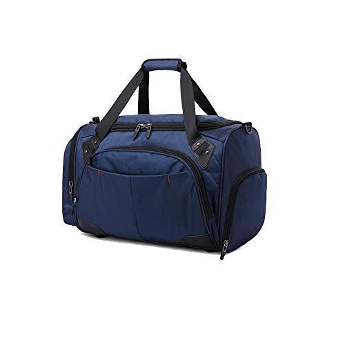 Xersex Bolsa de Deporte, Impermeable, Grande, Bolsa de Viaje con Compartimento para Zapatos, Bolsa de Fin de Semana, Bolsas de Gimnasia (Azul)