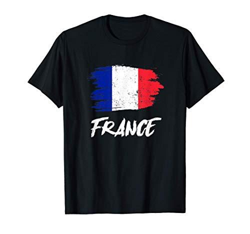Frankreich Flagge France Französische Fahne Geschenk T-Shirt