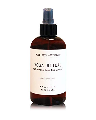 Muse Bath Apothecary Yoga Ritual - Aromatic and Refreshing Yoga Mat Cleaner, 8 oz, Infused with Natural Essential Oils - Eucalyptus Mint