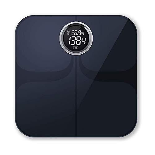 NCRD Escala de grasa corporal Escala de BMI inteligente Baño digital Escala de peso inalámbrico, analizador de composición corporal con sincronización de la aplicación Smartphone con Bluetooth, 396 lb