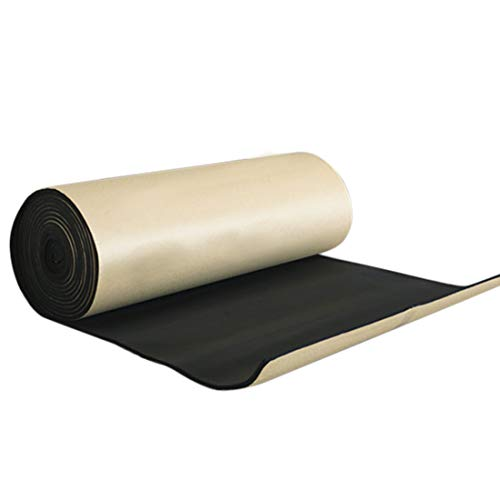 uxcell 315mil/8mm 16.36sqft Car Heat Insulation Pad Underlay Foam Self-adhesive Sound Deadening and Automotive Dampening Mat 60'x 40'