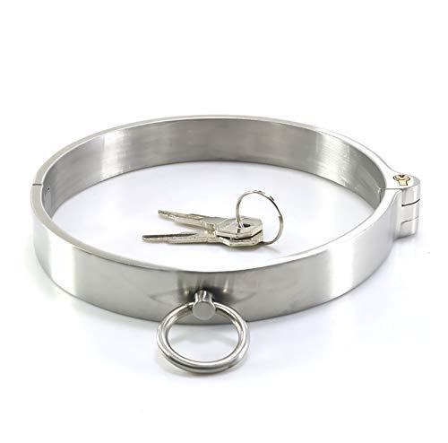 Cinturón de cintura corporal Collar de collar de acero inoxidable - Metal perro gargantilla correa punk rock gótico cadena arnés - jaula del cuerpo de la banda de cuello de la moda con la cerradura y
