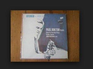 Solos for the Viola Player by Paul Doktor; John Wustman, Piano; Marin Marais; Johann Sebastian Bach; George Frideric Handel Stereo Lp