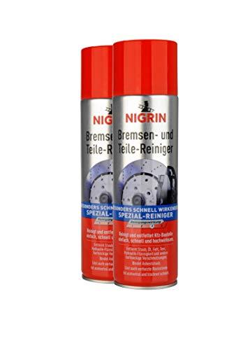 NIGRIN 20411 Bremsen & Teilereiniger, 2er-Pack ß 500 ml