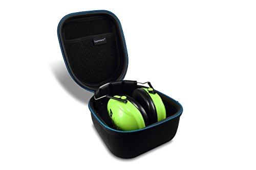 Supremery Tasche für 3m Peltor Kid Kapselgehörschutz kidv, neon-grün, SNR 27 db Case Schutz-Hülle Etui Tragetasche