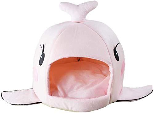 YAOSHUYANG Perro Cama Buca de tiburón Forma Gato y Cama de Perro, pequeño Perro Mascota Cama Cuatro Temporadas Universal, Gris, s (Color : Pink, Size : Medium)