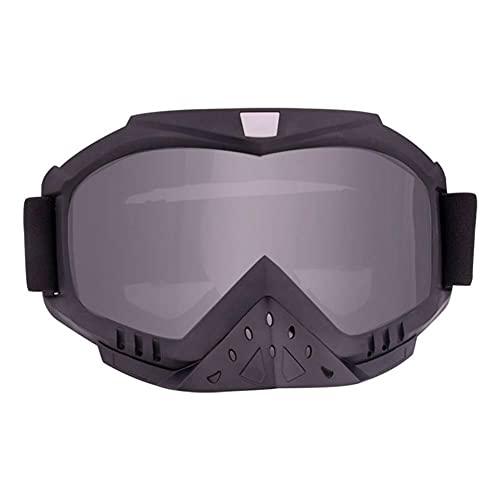 7 colores gafas de motocicleta protección solar anti -UV Casco a prueba de viento a prueba de polvo Anti-Foglens deportes al aire libre Gafas de sol ajustables (Color : Gray)