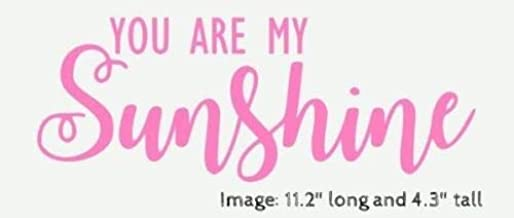 OutletBestSelling You are My Sunshine Stencil in Script Font Signs Pillows Wall Hangings Benches