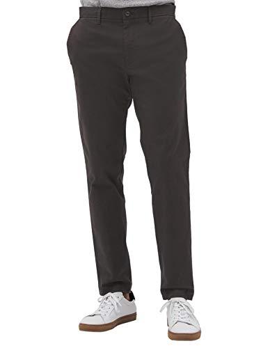 Banana Republic Mens Athletic Slim Leg Mason Stretch Chino Pants Flint Dark Grey (34W 32L)