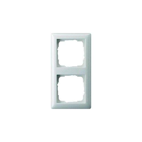 Gira 021204 Rahmen 2-fach ST55, reinweiß-seidenmatt