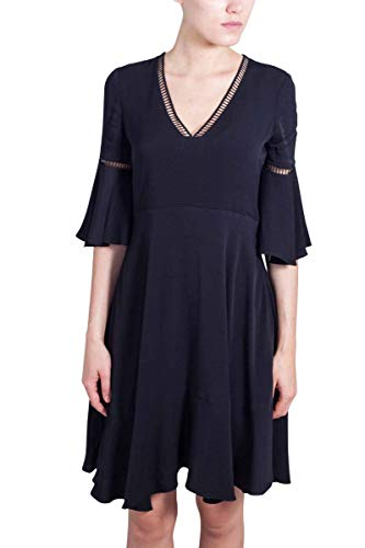 Tommy Hilfiger Damen Peggy Dress SS Kleid, Schwarz (Black Beauty 094), 38 (8)