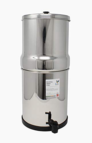 DOULTON British Berkefeld Gravity SS-4 - Filtro Portatil sobre Encimera Acero Inoxidable Pulido Capacidad para 12 litros