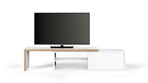 TemaHome, Move TV Tisch, 110x35x31 cm, weiß/multiplex