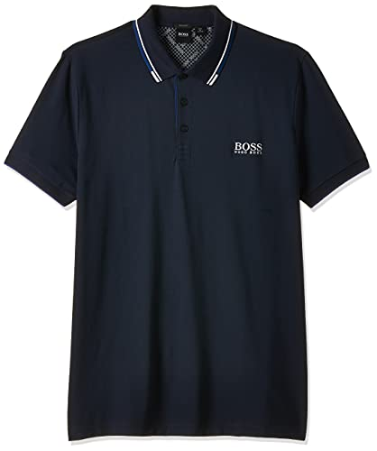 Hugo Boss Mens Paddy Pro Short Sleeve Polo Shirt, Navy, X-Large US