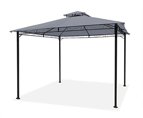3m x 3m Garden Gazebo Grey Party Patio Shelter Shade Outdoor Sun Canopy Stunning Design