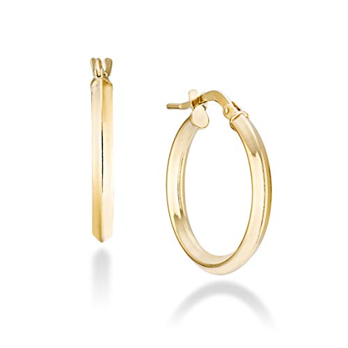 Miabella 18K Gold Over 925 Sterling Silver 2.5mm High...