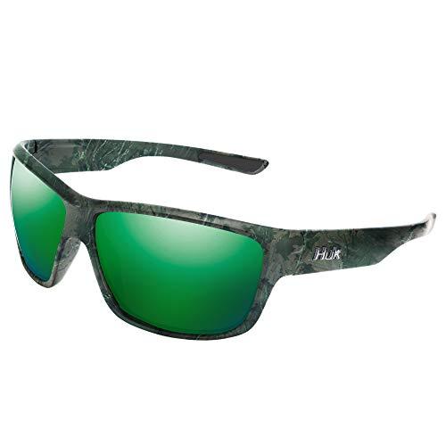 HUK Eyewear Full Frame, Spar, 125, Southern Tier Subphantis/Smoke/Green Mirror