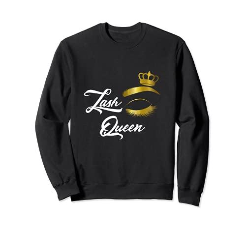 Eye Lash Queen Femmes Couronne Maquilleur des cils salon Sweatshirt