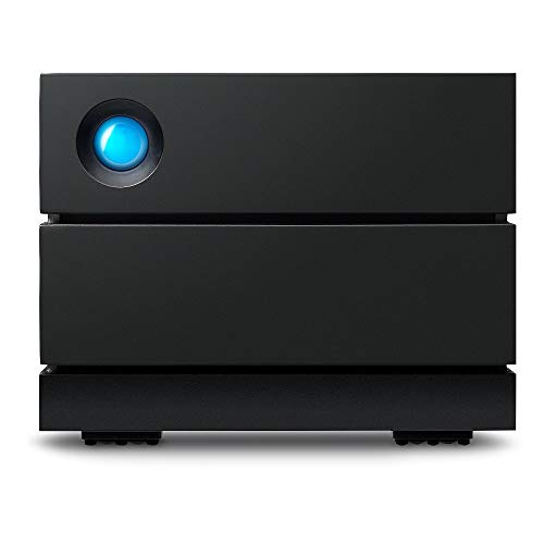 LaCie 2big RAID da 8 TB, Hard Disk Esterno per Desktop, Classe Enterprise, Thunderbolt 3, USB-C, USB 3.0, 7200 RPM, per Mac e PC Desktop, 5 anni di servizi Rescue (STHJ8000800)