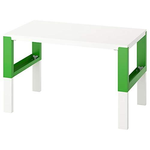 BestOnlineDeals01 Påhl Schreibtisch, weiß, grün, 96 x 58 cm, langlebig und pflegeleicht. Schreibtische für zu Hause. Schreibtische und Computertische Tische und Schreibtische. Möbel. Umweltfreundlich.