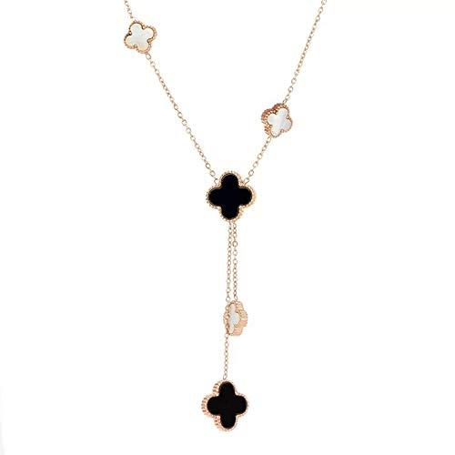 "Dainty 18"" adjustable designer inspired 18K Gold Plated Clover Charm Necklace"