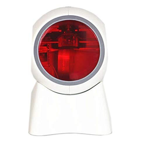 Scanner 24 Lignes à Plat de Bureau USB Barcode Scanner Barcode Reader Rapide et précis pour Magasin Supermarché Entrepôt (Color : White, Size : 118X110X175mm)