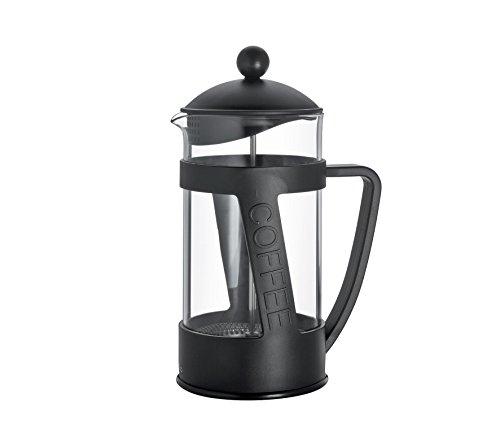 Cilio Kaffeebereiter Melina, Glas, schwarz, 13,5 x 13,5 x 22,5 cm