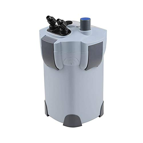 Polar Aurora Free Media 3-Stage External Canister Filter with 9-watt UV Sterilizer for Aquarium 265 GPH Builtin Pump Kit Canister