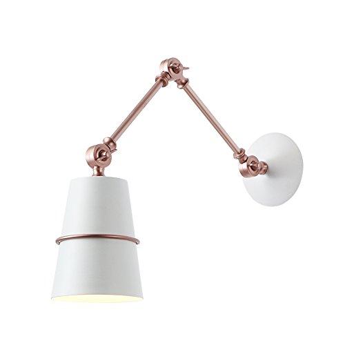 Réglable LED Mur Lumière Moderne Minimaliste Salon Den Chambre Tête De Lit Bureau Balcon Salle À Manger En Fer Forgé Creative Lecture Murale Lumière,White