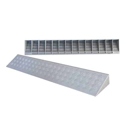 BBGS Rampas de Acera, Puerta de 8cm Escalera Pendiente de Plástico en La Carretera Rampas de Goma Estera Oblicua de La Rampa del Coche de La Rueda de Los Pasos Compresivos