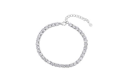 Selead 925 silver jewellery bracelets for women 18th 30th 40th 21st birthday unique bridesmaid gifts for girls women her best friend bridesmaid gifts friendship bracelets solid bangles