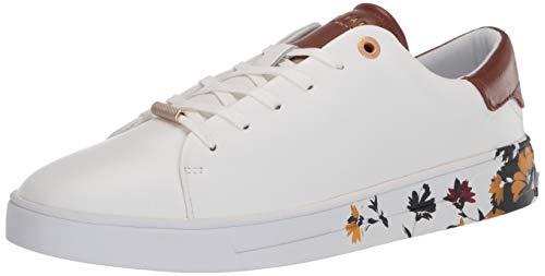 Ted Baker Women's wenil Sneaker, White, 7.5 M US