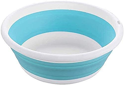 Folding bucket Outdoor product Multi-function Collapsible Washing Up Bowl Folding Portable Round Wash Basin For Outdoor Camping Hiking Portable basin (Color : Blue, Size : Large)
