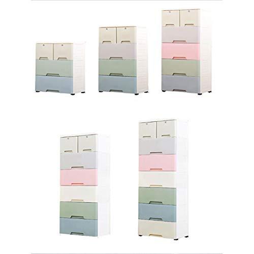 WTY Épaissir Macaron tiroir Rangement Armoire en Plastique Cinq Seau Enfants casiers bébé armoires armoires Grand trésor,Five