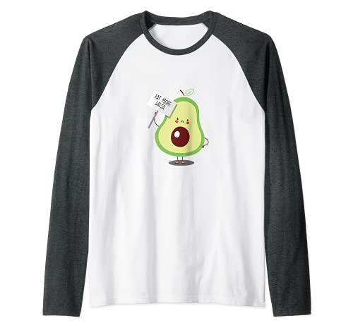 Più Salsa Avocado Guacamole Toast Messico Frutta Verde Maglia con Maniche Raglan