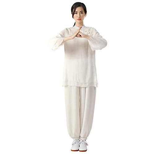 KSUA Vêtements de Tai Chi pour Femmes Vêtements de Coton et