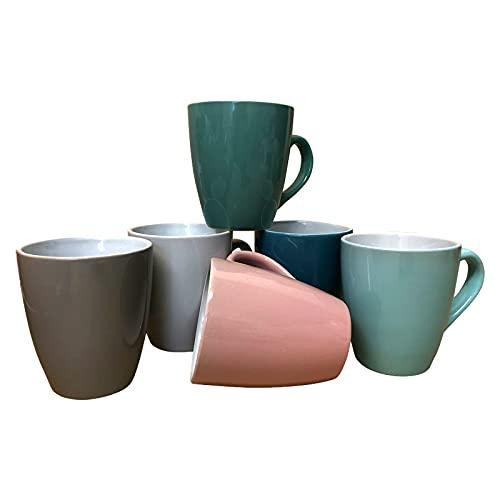 ZD Trading - Juego de 6 tazas de café de cerámica, 150 ml, 6 unidades