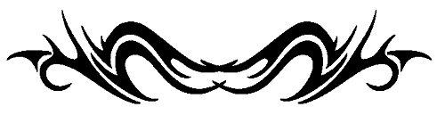 Tribal / Tattoo CarDesign-Folien 90 x 18,5 (Schwarz)