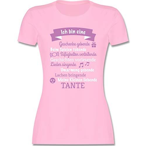 Schwester & Tante - Ich Bin eine Tante! - M - Rosa - Baby Shirt Tante - L191 - Tailliertes Tshirt für Damen und Frauen T-Shirt