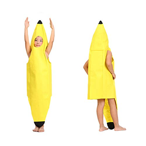 Phayee Bananen Kostüm, Weihnachten Lustige Neuheit Rollenspiel Kleidung Party Kostüm,Obst Anzug Bodysuit Karnevalskostüme für Kinder/Erwachsene,Eine Größe