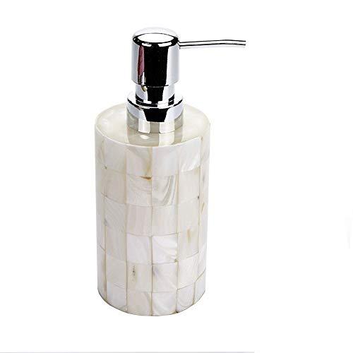 Laberry Smart Lotion Seifenspender Kreative Düfte Handseifenspender 300ml, Aufsatz- Dekorative Lotion Pumpe, Wasch- oder Spülbecken Dusche Spender, for Elegante Badezimmer-Dekor, Perlmutt