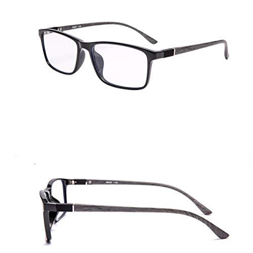 BJHSYNDR Gafas de Bloqueo de luz Azul Gafas de Lectura ultraligeras Memory TR Progresivas Multi Focus Anti BLU Ray Gafas de Lectura cómodas Plus Estuche + Caja + Paño