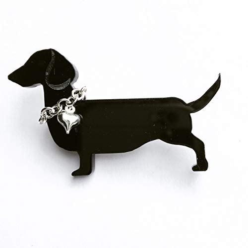 Handmade Sausage Dog Dachshund Brooch, Measures 60mm x 38mm x 4mm