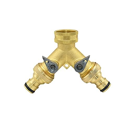 Brass 3/4'GARDÍN DE 2 VERDADES Tap Y Tap DE LA VÁLVULA DE LA VÁLVULA DE LA VÁLVANTE DE Agua DE Agua DE LA Manguera del JARDÍN Conector rápido 1 Juego (Color : B)