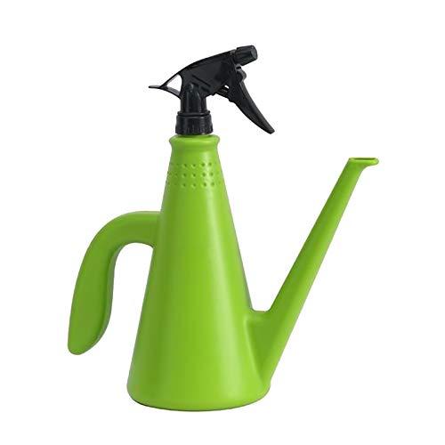 Gazechimp Regadera para Plantas 2 en 1, Regadera de 1,0 litros, Rociador de Doble para Plantas de Interior, Suculentas Y Flores, Botella de Pulverización Pl - Verde