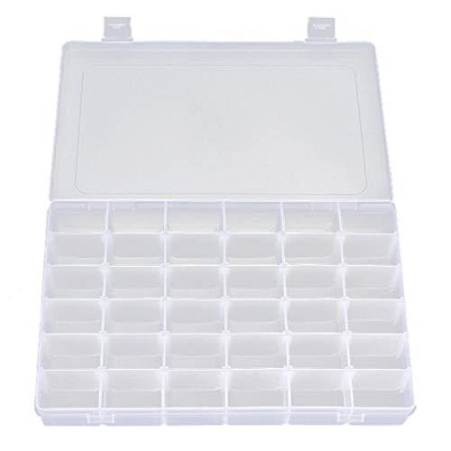 Olddreaming-Caja de almacenamiento transparente ajustable de 36 rejillas para joyería, caja de herramientas de grado alimenticio, material de polipropileno de grado alimenticio