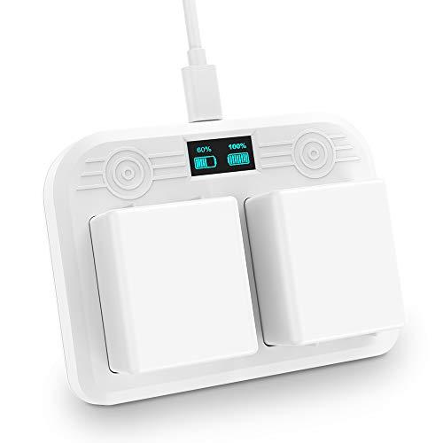 Lixada Battery Charger Station Compatible with Arlo Ultra 4k Arlo Pro 3 Camera Dual Charging Station LED Display