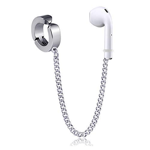 Kopfhörer Anti-Verlust-Ohrringe, kabellos, Bluetooth, Ohrclip, Titanstahl, nicht verblassend, Sport-Ohrringe